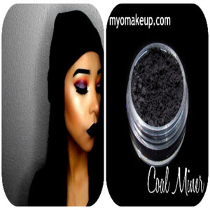 MYO Coal Miner Matte Black Eyeshadow Pigment Mica Loose Powder Cosmetic Makeup