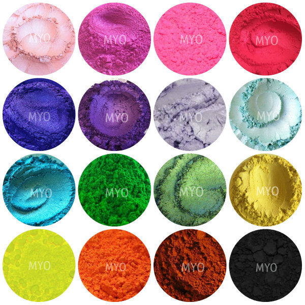 10 Piece Myo Loose Eyeshadow Pigment Duochrome, Color shifting, Shimmer, Matte, Ultra Bright's, Mixed Glam Sampler Collection Set D