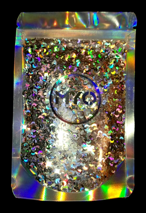 1 Ounce Crescent Moon Loose Glitter