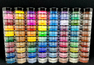 Myo Tower Stacks Loose Eyeshadow Pigment Duochrome, Color shifting, Shimmer, Matte, Ultra Bright's, Mixed Glam Sampler