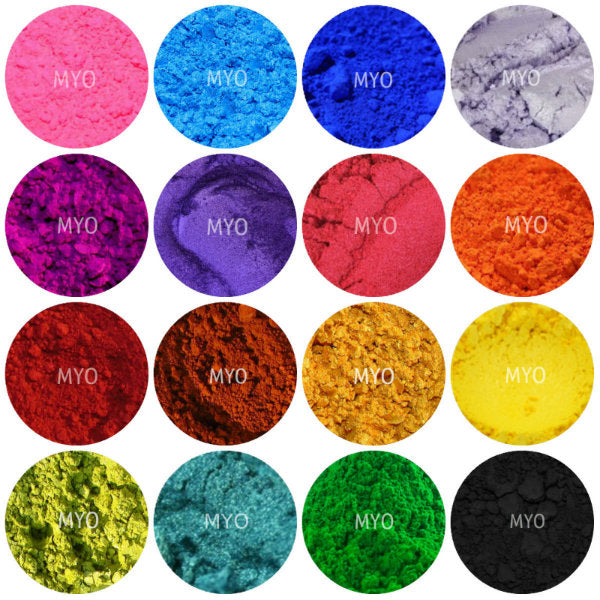 10 Piece Myo Loose Eyeshadow Pigment Duochrome, Color shifting, Shimmer, Matte, Ultra Bright's, Mixed Glam Sampler Collection Set C