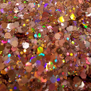 "1oz ""Fruity Pebbles"" Chunky Blend Glitter, Mixed Size Chunky Mix, Polyester Glitter Mixes"