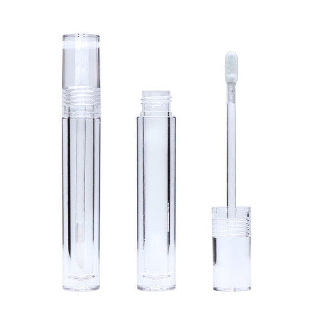 8ML All Clear Lip Gloss Tubes Empty Bottle Cylinder Transparent Lip Tube Makeup Tools Empty Gloss Container