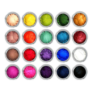 20 Pc Myo Loose Eyeshadow Pigment Duochrome, Color Shifting, Shimmer, Matte, Ultra Brights, Sampler