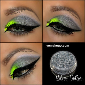 MYO Silver Dollar Eyeshadow Pigment Mica Loose Powder Cosmetic Makeup