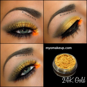 Myo 24K Gold Eyeshadow Pigment Mica Cosmetic Mineral Loose Powder Makeup