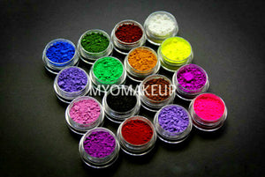 10 Piece Myo Loose Eyeshadow Pigment All Matte Mixed Glam Sampler Collection Set E