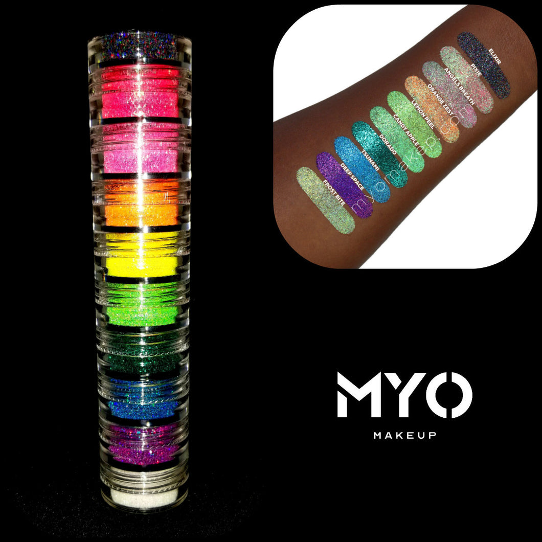 10 MYO Ultra Bright Rainbow Glitter Stackable Set