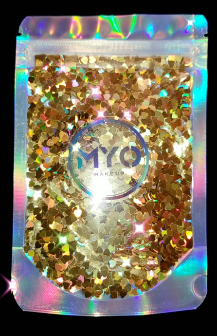 1 Ounce Heart Of Gold Loose Glitter