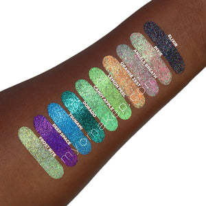 20 MYO Ultra Bright & Rainbow Glitter Stackable Jar Duo Set Mica Cosmetic Mineral Makeup.