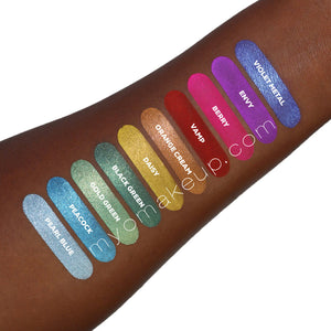 10 MYO Other Side Of The Rainbow Eyeshadow Pigment Stackable Jar Set Mica Cosmetic Mineral Makeup.