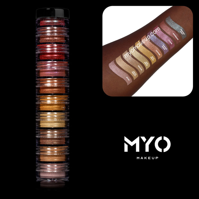10 MYO All Shimmer S'Mores Stackable Eyeshadow Pigments
