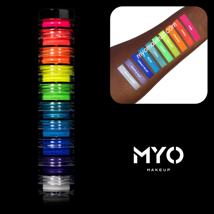 10 MYO Stackable Ultra Bright Eyeshadow Pigments