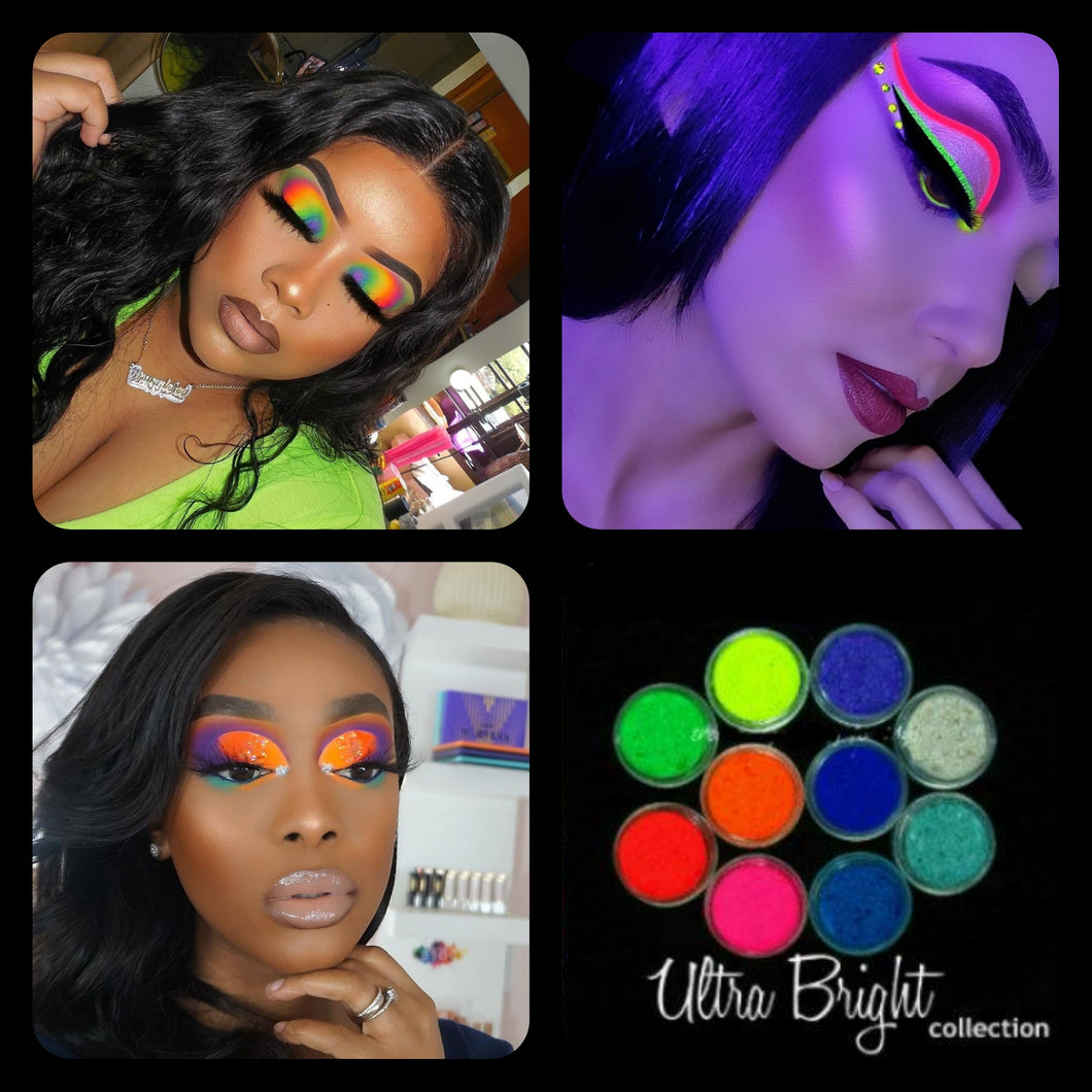 Wholesale (10 Sets 100 Pieces 10 Of Each Color) 10 Piece Set MYO Ultra Bright Eyeshadow Pigment Color Collection