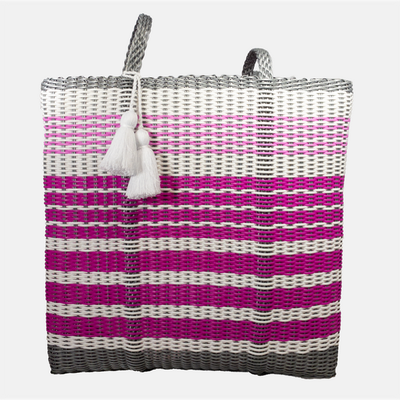 cesta tote ~ extra large ~ gradient stripes ~ NEW DESIGN!