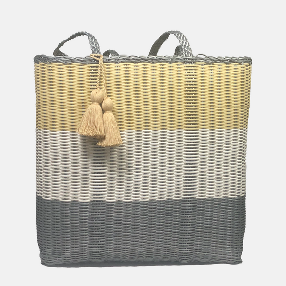 cesta tote ~ extra large ~ 3 color block
