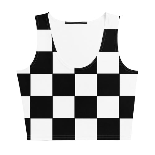 Black and white checkered Crop Top