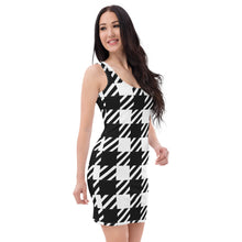 Vintage Houndstooth Bodycon dress