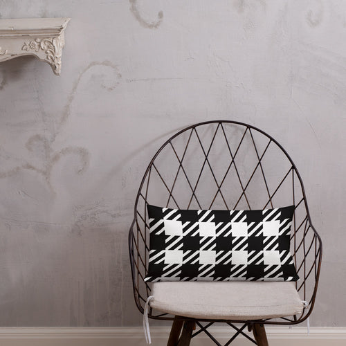 Vintage Houndstooth Premium Pillow