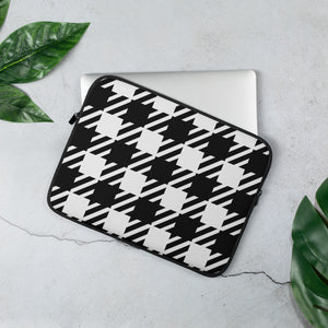 Vintage Houndstooth Laptop Sleeve