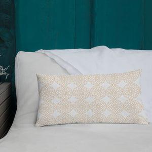 Square and Rectangle Big Ben Inspired Pillow - White and Gold