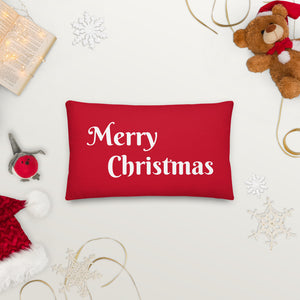 Red Merry Christmas Pillow