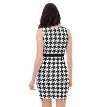 Classic Houndstooth Bodycon Dress