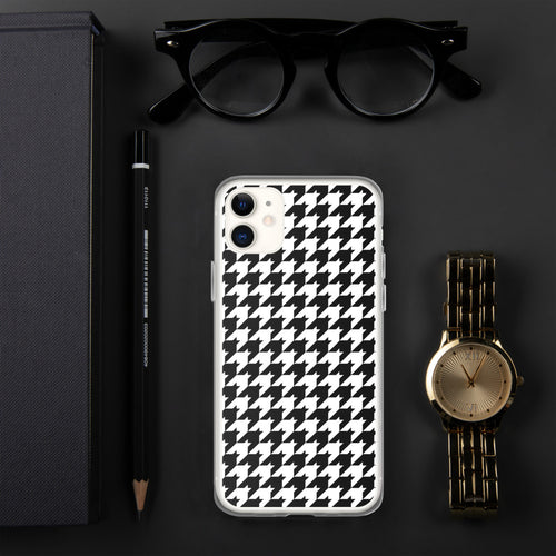 Small Print Classic Houndstooth iPhone Case