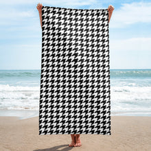 Classic Houndstooth Beach Towel