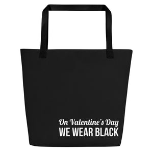 On Valentine's Day we wear black tote Bag