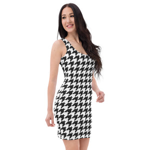 Classice Houndstooth Bodycon Dress