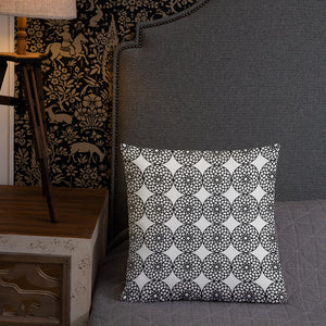 Square and Rectangle Big Ben Inspired Pillow - Black and White