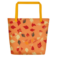 Fall Leaves Tote with Orange Background