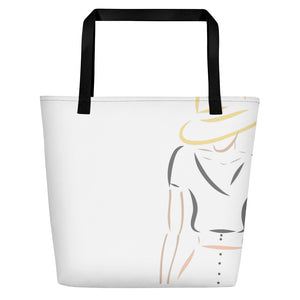 Fashion Illustration Beach Bag Tote