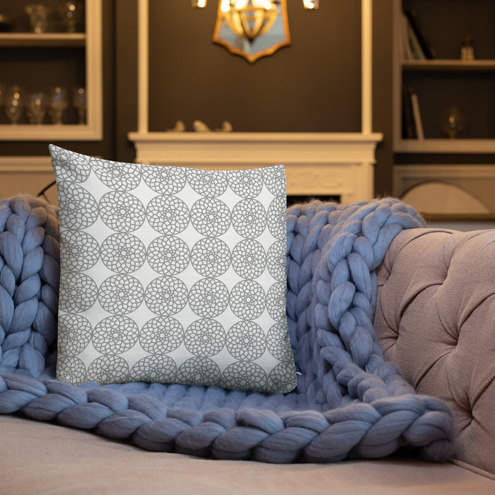 Square and Rectangle Big Ben Inspired Pillow - Gray and White