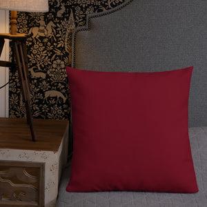 Square & Rectangle Dark Red Premium Pillows (sold separately)