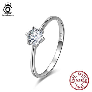 Sterling Silver Cubic Zirconia Solitaire Rings