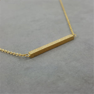 Matte Surface Horizontal Rectangle Necklace