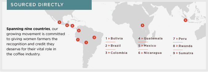 Cafe Femenino Coffee Direct Sourcing Map