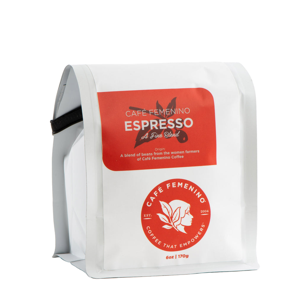 Café Femenino Organic Espresso | Mini Whole Bean Coffee