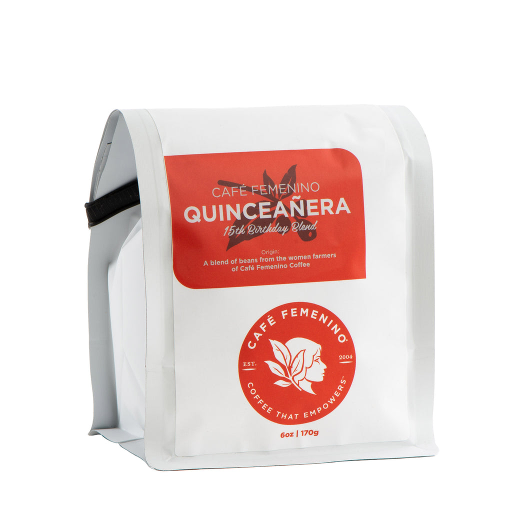 Café Femenino Quinceañera Mini Whole Bean Coffee