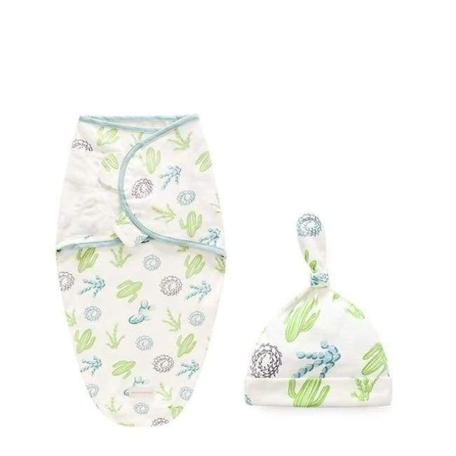 2pcs Baby Cactus Swaddle Sleeping Bag - Cactus / S - sleepwear