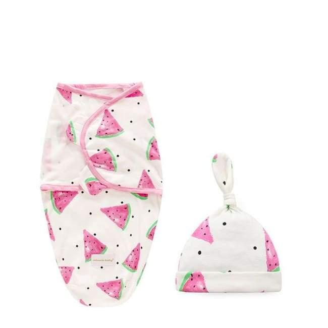 2pcs Baby Watermelon Swaddle Sleeping Bag - Watermelon / S - sleepwear