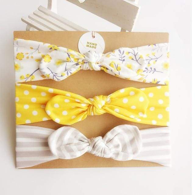 3Pcs Cute Bowknot Headband for Baby Girl - 8