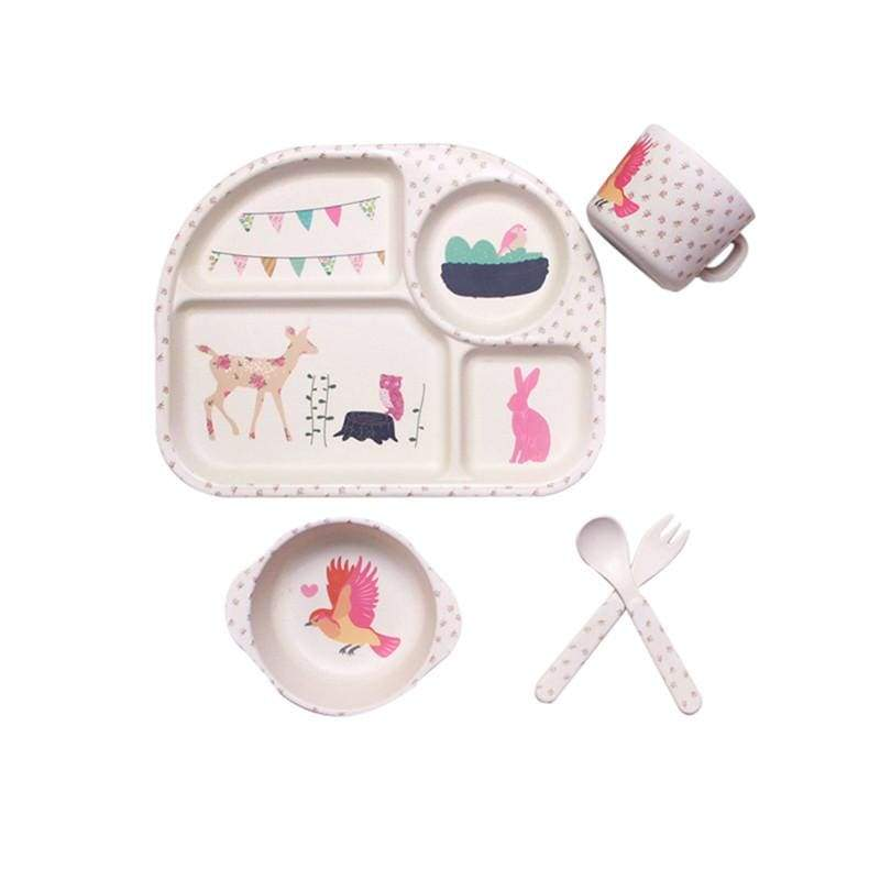 5Pcs Deer Infant Feeding Tableware - Deer - eat & drink