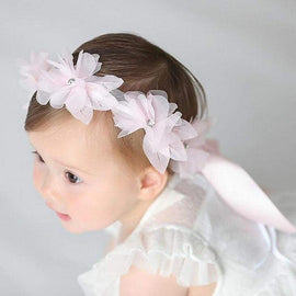 Adjustable Flower Ribbon Headband