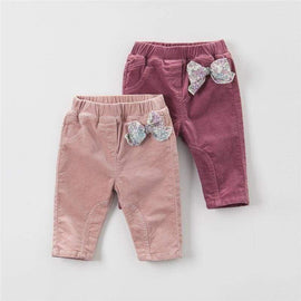Adorable Girl Trousers Bow Detail