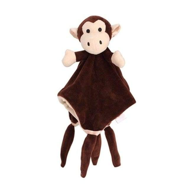 Animal Monkey Plush Cuddle Blanket - Monkey - cuddle blankets