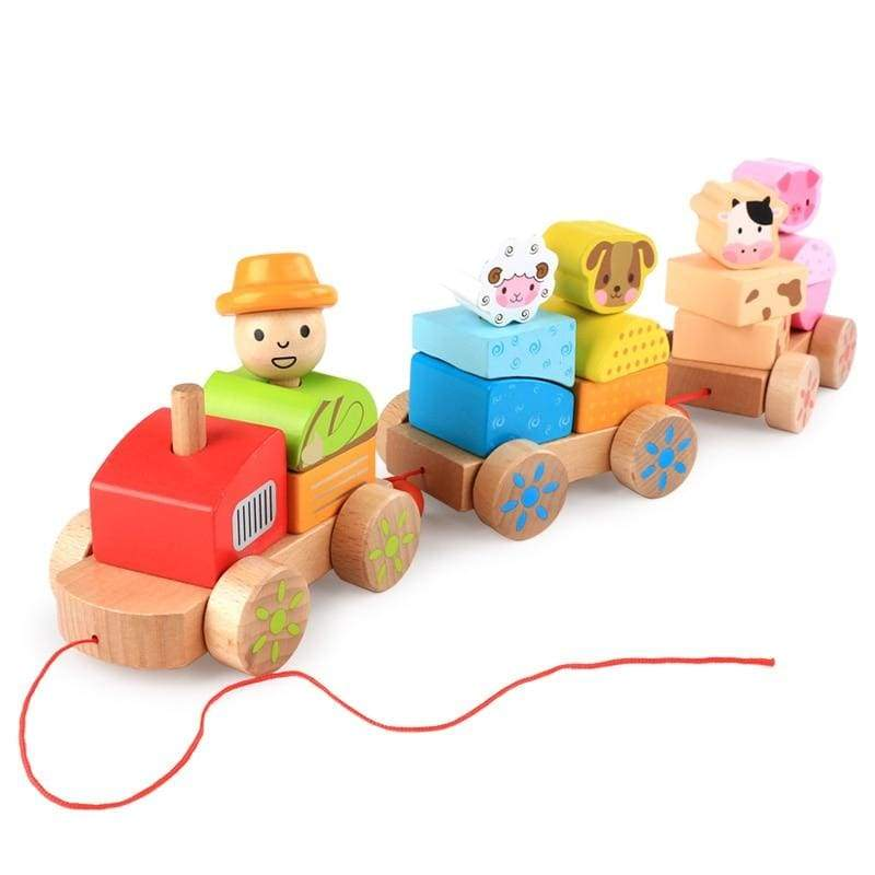 Animal train toy - building toys