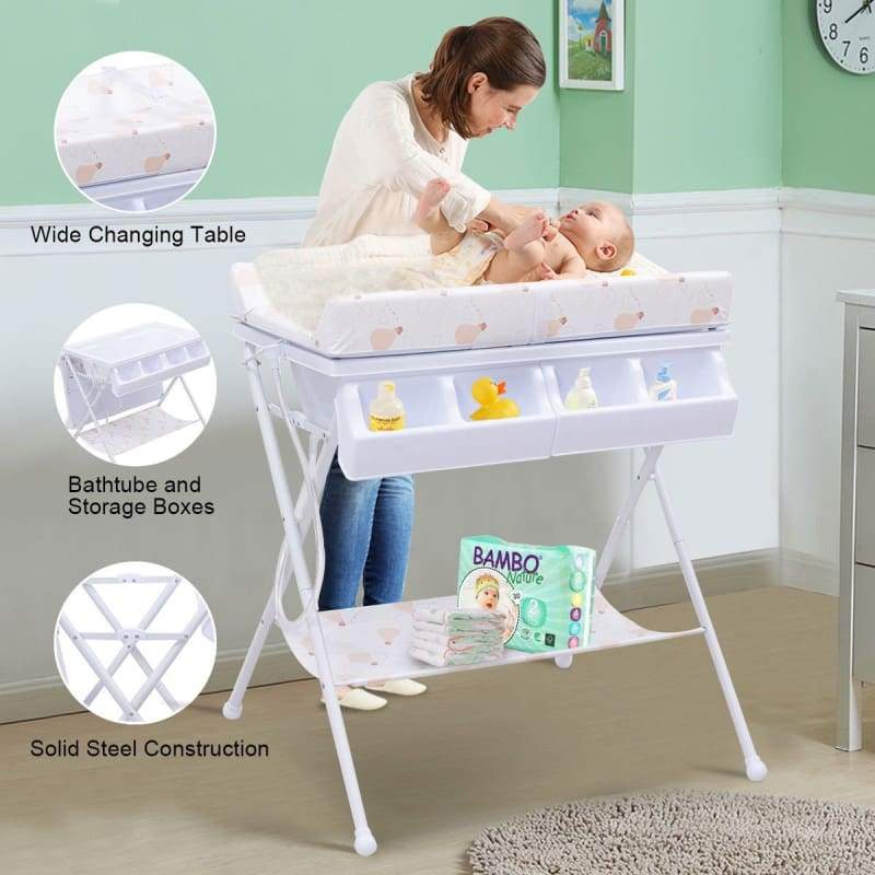 Baby Bath Diaper Changing Table - baby bathing